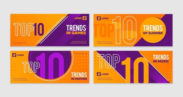 Los diez mejores banners de calificación