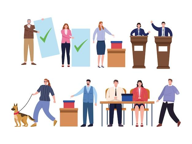 Diez personas el día de las elecciones