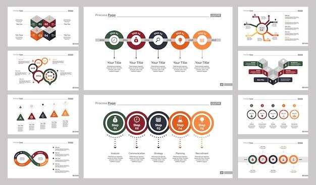 Diez plantillas de diapositivas de producción establecidas