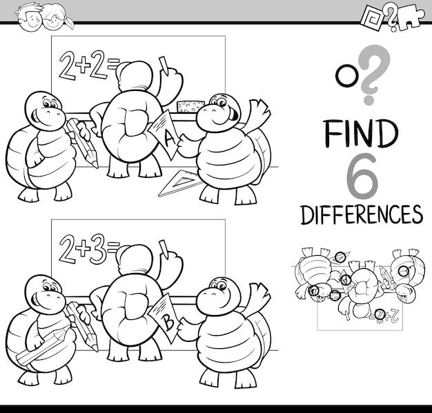 Diferencias para colorear
