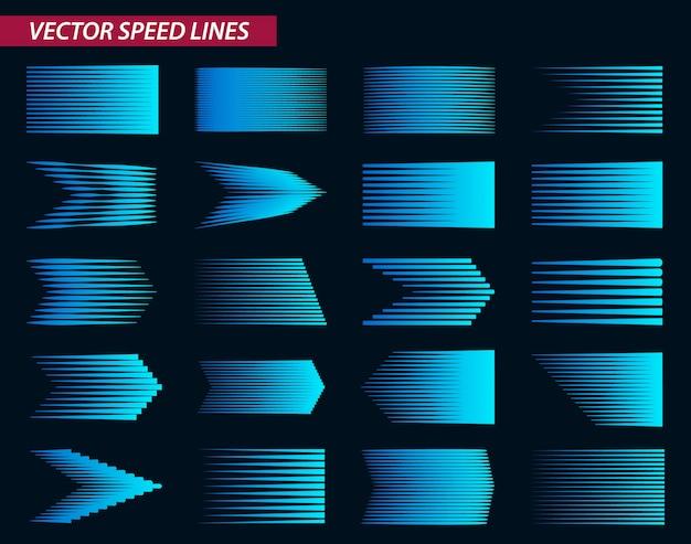 Diferente línea de velocidad simple.