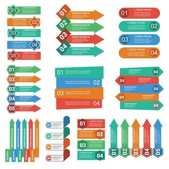 Diferentes banners para infografías