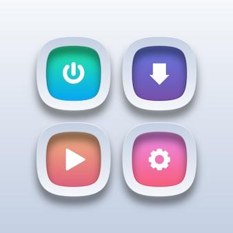Diferentes botones web coloridos