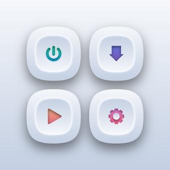 Diferentes botones web en estilo degradado