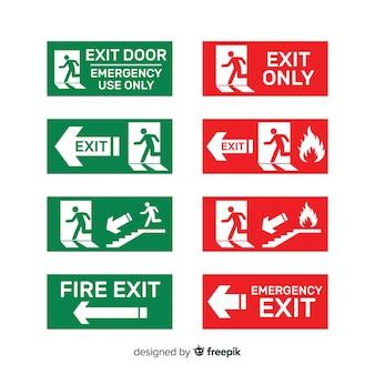 Diferentes carteles de salida