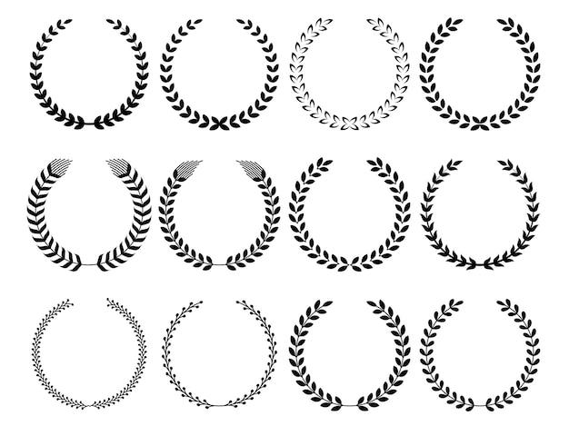 Diferentes de la colección de coronas circulares.