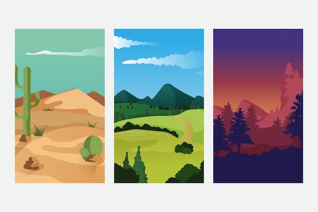 Diferentes colecciones de paisajes impresionantes.