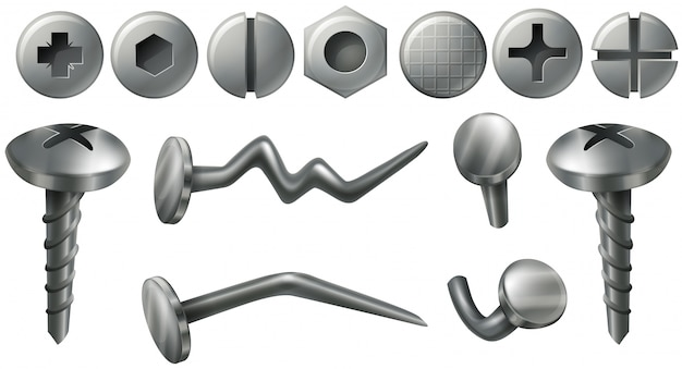 Diferentes diseños en nailheads