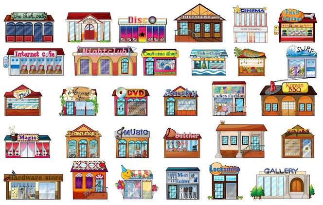 Diferentes edificios