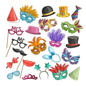 Diferentes elementos para el carnaval.