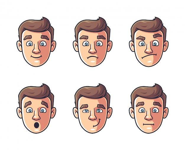 Diferentes emociones de un personaje