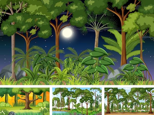 Diferentes escenas horizontales de naturaleza.