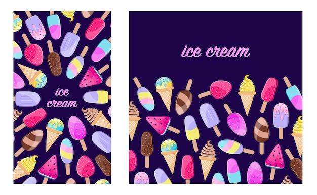 Diferentes helados