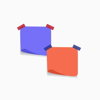 Diferentes hojas de colores de la colección de papeles de nota.