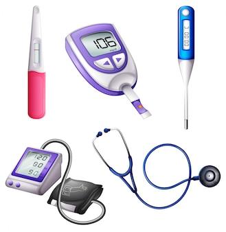 Diferentes instrumentos médicos