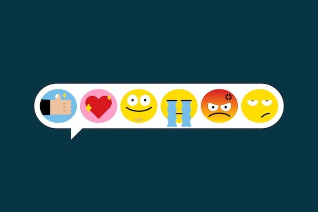 Diferentes juegos de emojis.