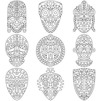 Diferentes máscaras étnicas.