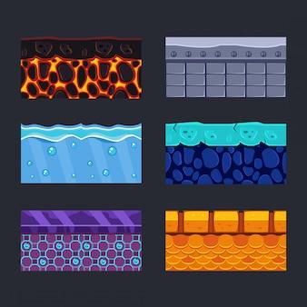 Diferentes materiales y texturas para el juego