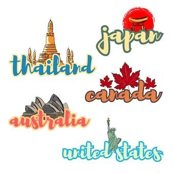 Diferentes paises del mundo