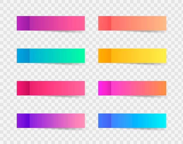 Diferentes pegatinas de notas de colores