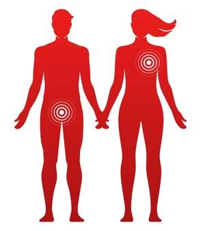 Diferentes preferencias en la ilustración de vector de concepto de relaciones románticas o sexuales