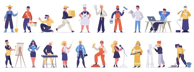 Diferentes profesiones y ocupaciones.