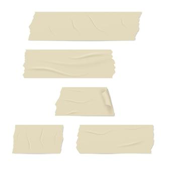 Diferentes rodajas realistas de una cinta adhesiva.