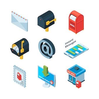 Diferentes símbolos postales