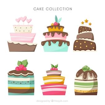 Diferentes tartas de cumpleaños
