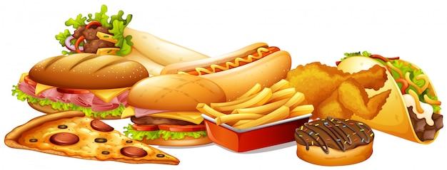 Diferentes tipos de comida rápida