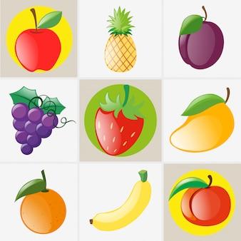 Diferentes tipos de frutas