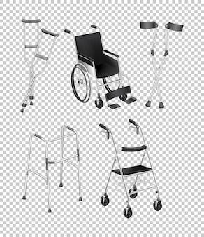 Diferentes tipos de equipos para discapacitados.