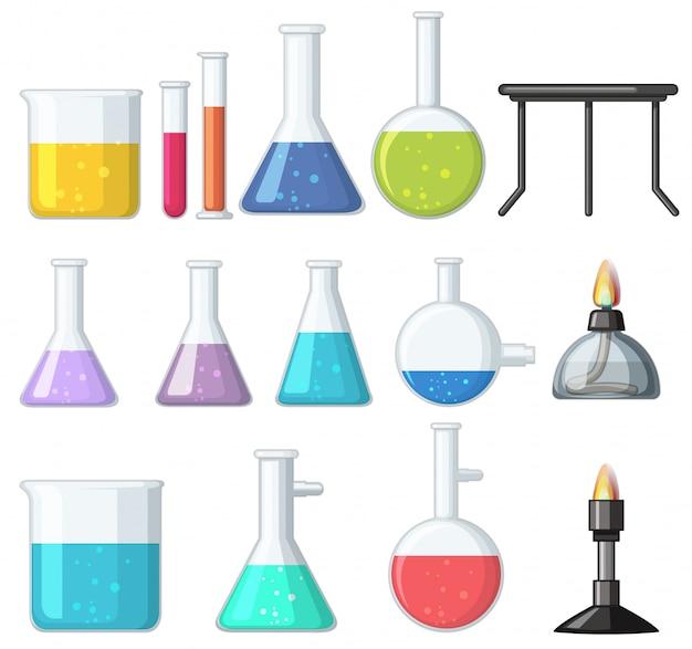 Diferentes tipos de vasos y quemadores