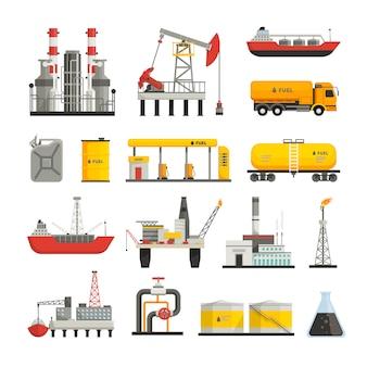Diferentes transportes de construcciones y fábricas.