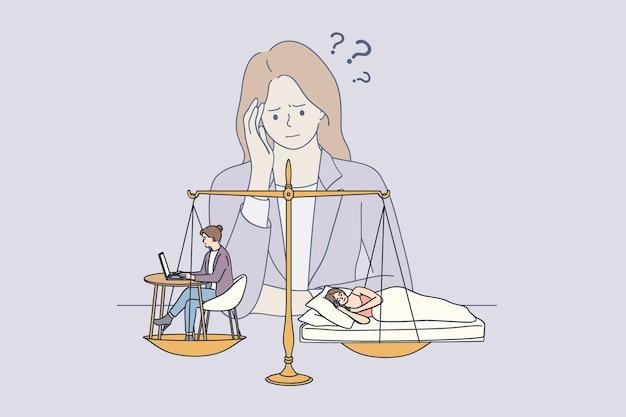 Difícil elección entre trabajo y concepto de salud