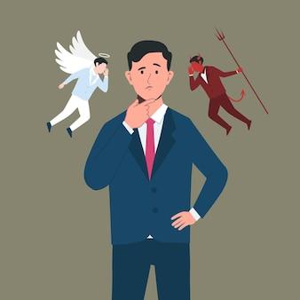 Dilema ético de ángel o demonio