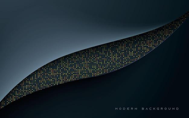 Dimensión abstracta fondo negro semitono dorado