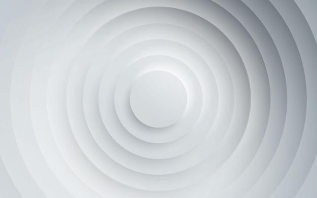 Dimensión de capas de círculo de fondo blanco abstracto