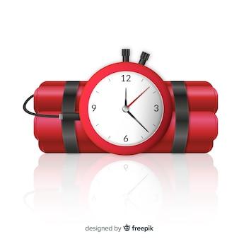 Dinamita realista con reloj