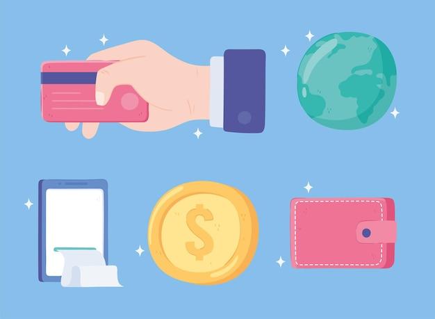 Dinero de transacciones comerciales