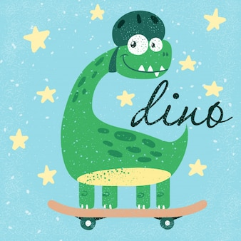 Dino lindo divertido, dinosaurio.