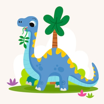 Dinosaurio bebé dibujado ilustrado