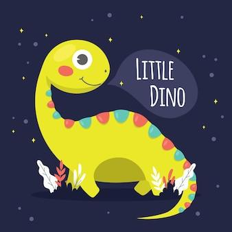 Dinosaurio bebé de diseño plano detallado