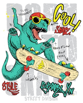 Dinosaurio dibujado a mano