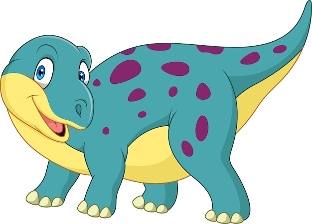 Dinosaurio feliz de dibujos animados