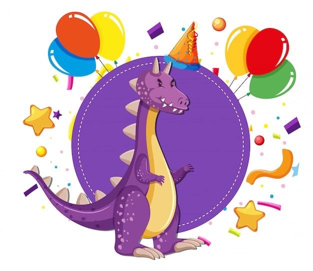 Dinosaurio en una fiesta