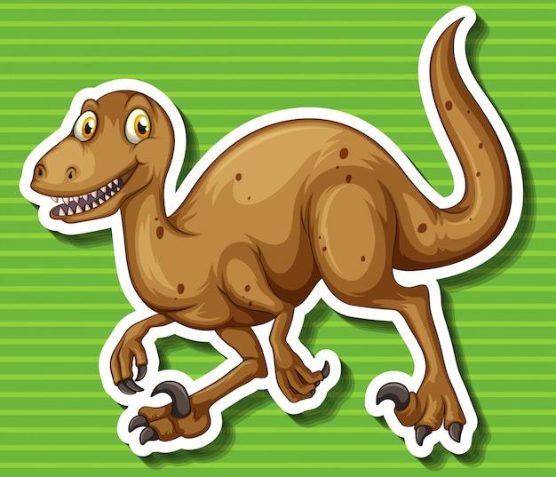 Dinosaurio marrón con garras afiladas