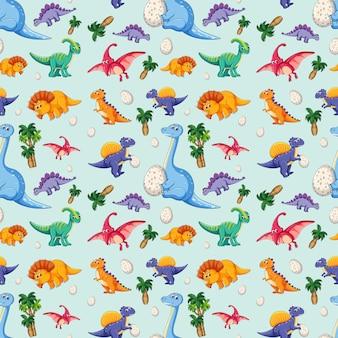 Dinosaurio en patrón transparente