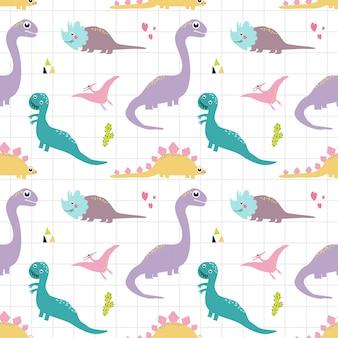 Dinosaurio de patrones sin fisuras