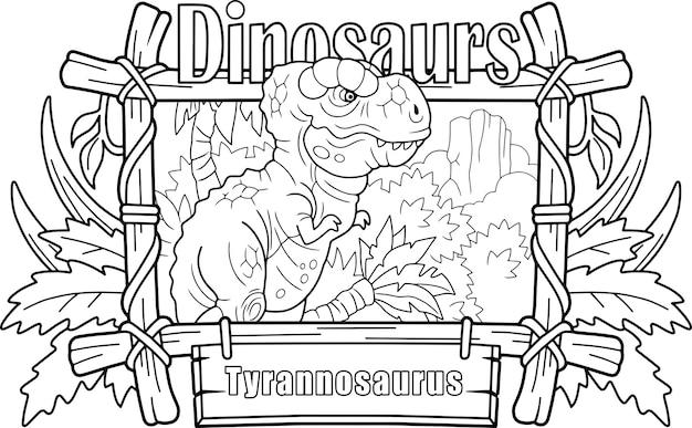 Dinosaurio prehistórico tiranosaurio